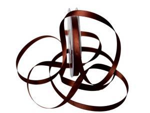 Satinbändchen Braun ohne Draht 10mm