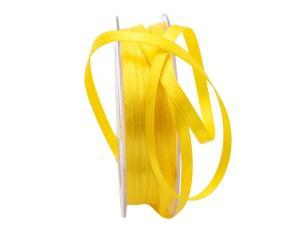 Satinbändchen gelb hell 6mm ohne Draht