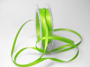 Satinbändchen Hellgrün ohne Draht 6mm