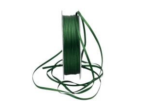 Satinbändchen jägergrün ohne Draht 3mm