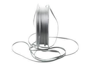 Satinbändchen lichtgrau ohne Draht 3mm