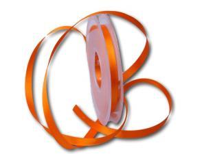 Satinbändchen Orange ohne Draht 10mm