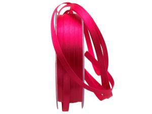 Satinbändchen pink / bischof 6mm ohne Draht