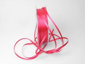 Satinbändchen Pink ohne Draht 3mm im Bänder Online-Shop günstig kaufen