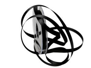 Satinbändchen Schwarz ohne Draht 10mm