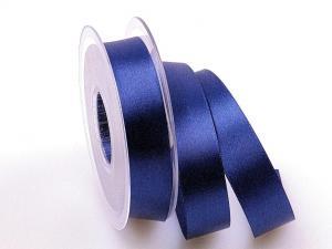 Satinband Blau ohne Draht 25mm