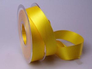 Satinband gelb ohne Draht 25mm