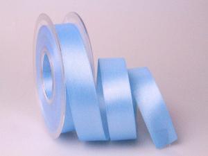 Satinband 25mm hellblau ohne Draht