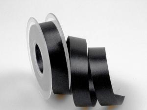 Satinband Schwarz ohne Draht 25mm