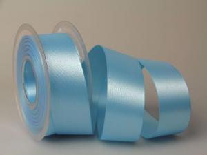 Satinband 40mm hellblau ohne Draht