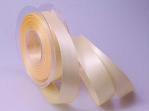Satinband Creme ohne Draht 25mm