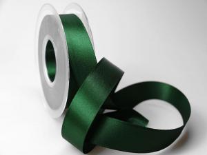 Satinband Dunkelgrün ohne Draht 25mm