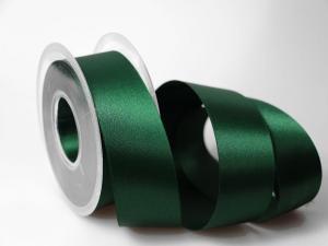 Satinband Dunkelgrün ohne Draht 40mm