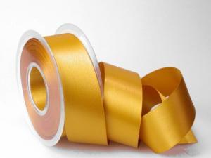 Satinband Honig ohne Draht 40mm