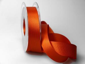 Satinband Orange ohne Draht 25mm im Bänder Online-Shop günstig kaufen