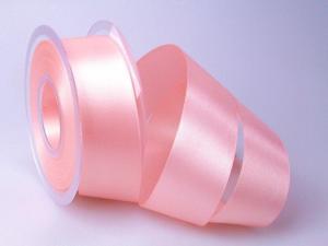 Satinband Rosa ohne Draht 40mm