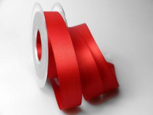 Satinband Rot ohne Draht 25mm