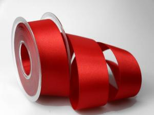 Satinband Rot ohne Draht 40mm