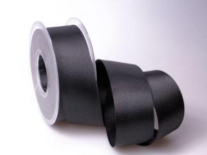 Satinband Schwarz ohne Draht 40mm