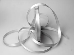 Satinband Silbergrau ohne Draht 10mm