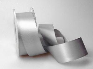 Satinband Silbergrau ohne Draht 40mm