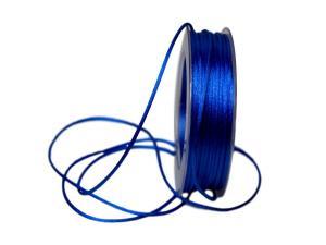 Satinkordel Blau ohne Draht 2mm