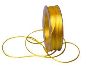 Satinkordel Gelb ohne Draht 2mm