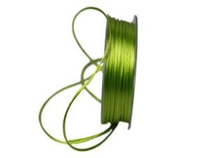 Satinkordel Hellgrün ohne Draht 2mm