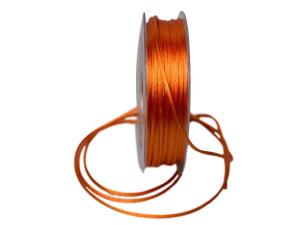 Satinkordel Orange ohne Draht 2mm