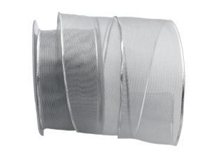 Silberband Transparente silber 65mm mit Draht
