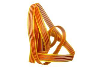 Streifenband Regenbogen 15mm orange ohne Draht