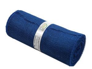 Tischband Jute blau ohne Draht 300mm