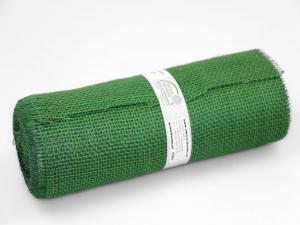 Tischband Jute 300mm ohne Draht dunkelgrün - im Bänder Großhandel günstig kaufen!