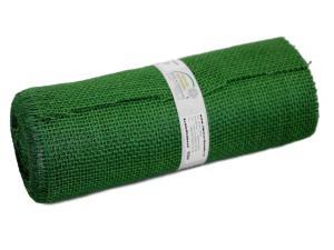Tischband Jute dunkelgrün ohne Draht 300mm