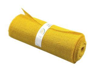 Tischband Jute gelb ohne Draht 300mm