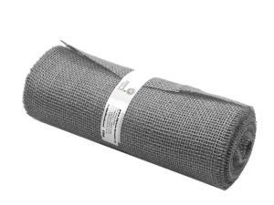 Tischband Jute grau ohne Draht 300mm