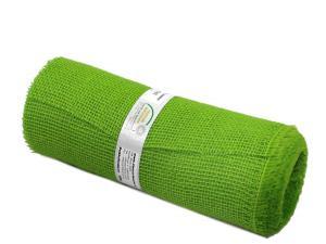 Tischband Jute hellgrün ohne Draht 300mm