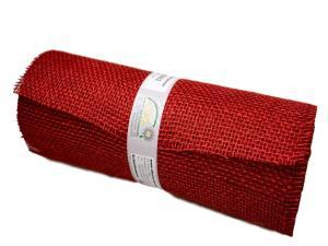 Tischband Jute karminrot ohne Draht 300mm - im Bänder Großhandel günstig kaufen!