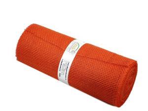 Tischband Jute orange ohne Draht 300mm