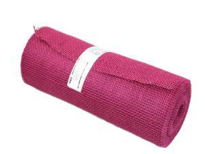 Tischband Jute pink / bischof ohne Draht 300mm