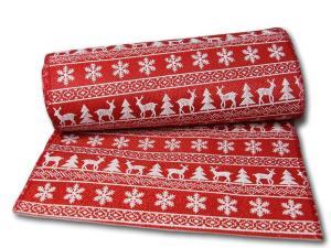 Tischband Norwegen 280mm rot ohne Draht