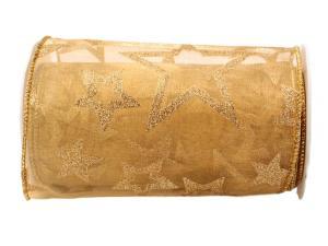 Tischband Sternentraum Gold  150 mm mit Draht