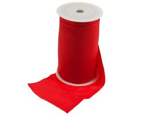 Tischband unifarben 130 mm ohne Draht rot
