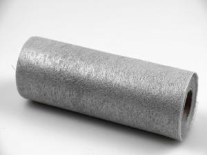 Tischband Vlies 23cm Silber ohne Draht 230mm