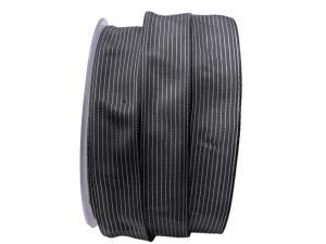 Trauerband Linee grau dunkel 25mm mit Draht