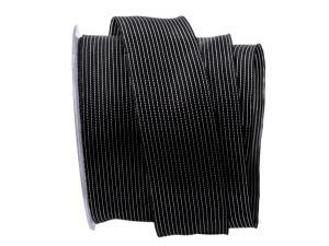 Trauerband Linee schwarz 40mm mit Draht
