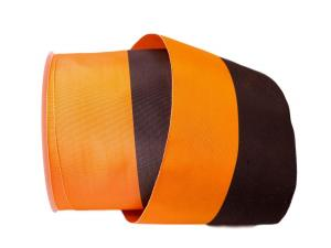 Uni Nationalband 100mm orange schwarz ohne Daht