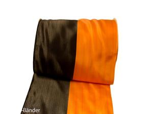 Uni Nationalband 155mm orange schwarz ohne Daht