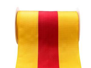 Uni Nationalband 175mm gelb / rot / gelb ohne Draht