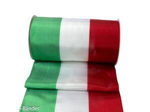 Uni Nationalband Italien 185mm rot / weiß / grün ohne Draht